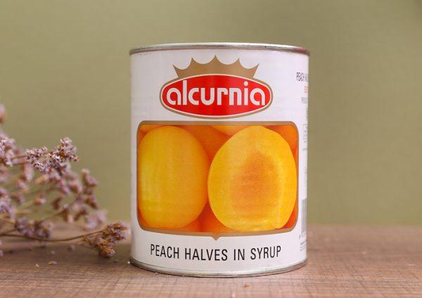 Đào ngâm đóng hộp Alcurnia