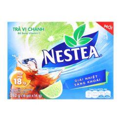 NESTEA Chanh: Đường, maltodextrin, chất điều chỉnh độ chua (330, 332(ii)), trà tinh chế (1.1 %), hương chanh tổng hợp (có chứa lecithin đậu nành (containing soya lecithin)), muối, chất tạo ngọt tổng hợp 950, màu tổng hợp 150d và vitamin C.Trà Chanh Nestea 252Gr